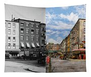 City - New York Ny - Fraunce's Tavern 1890 - Side By Side Tapestry