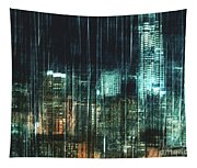 City Night Lights Tapestry