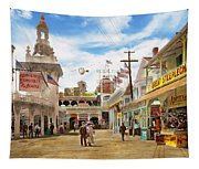 City - Ny - The Great Steeplechase 1903 Tapestry