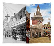 City - Ny - The Great Steeplechase 1903 - Side By Side Tapestry
