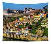 City On A Hillside Tapestry