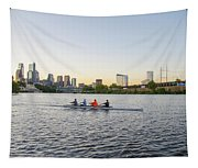 City Skyline - Philadelphia On The Schuylkill River Tapestry