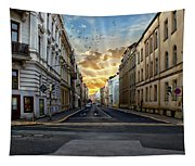 City Street View Tapestry