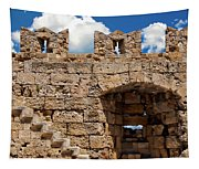 City Walls Of Rhodes Tapestry