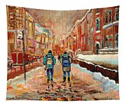 Cityscape In Winter Tapestry