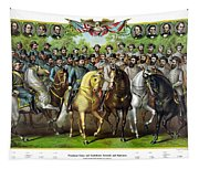 Civil War Generals And Statesman With Names Tapestry