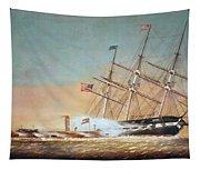 Civil War Merrimack 1862 Tapestry