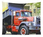 Classic Brockway Dump Truck Tapestry