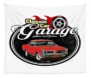 Classic Car Garage With Gto Tapestry