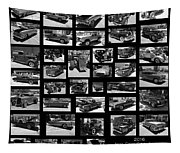 Classic Cars And Trucks Tapestry