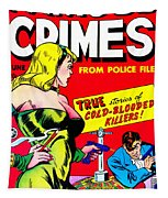 Classic Comic Book Cover - Famous Crimes From Police Files - 0112 Tapestry by Wingsdomain Art and Photography