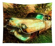 Classic Country Cadillac Painting  Tapestry