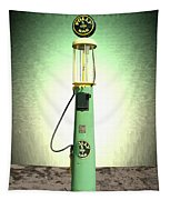 Polly Gasoline Pump And Emblem Tapestry