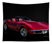 Classic Red Corvette Tapestry