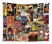 Classic Rock 2 Collage Tapestry