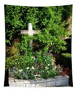 Claude Monet Grave In Giverny Tapestry