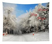 Clearing Skies Christmas Card Tapestry