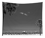 Clearwater Beach Bw Tapestry