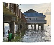 Clearwater Beach Pier Tapestry
