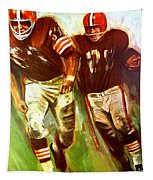 Cleveland Browns 1965 Cb Helmet Poster Tapestry