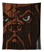 Cleveland Browns Wood Fence Tapestry