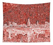 Cleveland Skyline Abstract 10 Tapestry