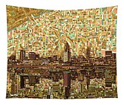 Cleveland Skyline Abstract 6 Tapestry