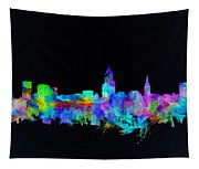 Cleveland Skyline Watercolor 3 Tapestry