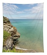 Cliff Edge At St Agnes Tapestry