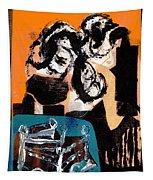 Cliff Master Bed 3 - Digital Version Tapestry