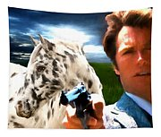 Clint Eastwood As Dirty Harry Tapestry