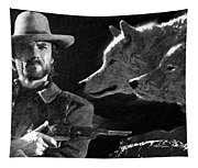 Clint Eastwood With Wolves Tapestry