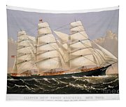 Clipper Ship, 1875 Tapestry
