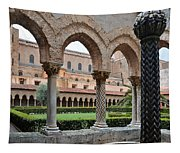 Cloister Of The Abbey Of Monreale. Tapestry