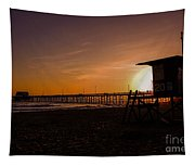 Close Of The Day At Newport Beach Tapestry