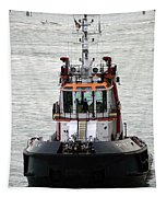 Close Up Of A Tugboat In Venice Harbor Tapestry