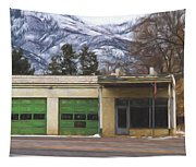 Closed Service Station Painterly Impressions Tapestry