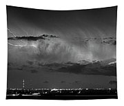 Cloud To Cloud Lightning Boulder County Colorado Bw Tapestry