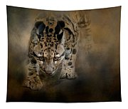 Clouded Leopard On The Hunt Tapestry