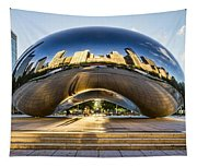 Cloudgate In Chicago Tapestry