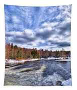 Clouds Above The Lock And Dam Tapestry