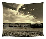 Clouds And Cornfields Tapestry