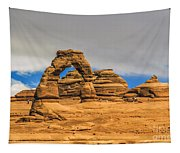 Clouds Over Delicate Arch Tapestry