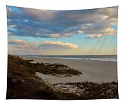 Clouds Over Holden Beach Tapestry