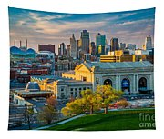 Clouds Over Kansas City Tapestry