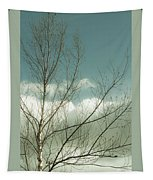 Cloudy Blue Sky Through Tree Top No 1 Tapestry