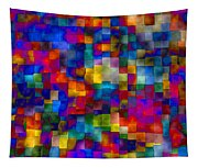 Cloudy Cubes Tapestry