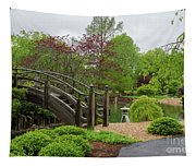 Cloudy Day Garden Stroll Tapestry