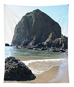 Coastal Landscape - Cannon Beach Afternoon - Scenic Lanscape Tapestry