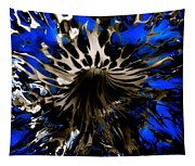 Cobalt Blue Wormhole Tapestry